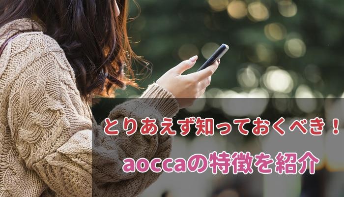 aoccaの特徴を紹介